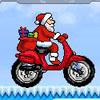 Santa's motorbike